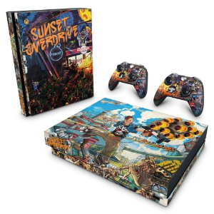 Xbox One X Skin - Sunset Overdrive