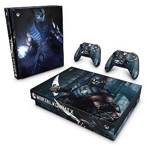 Xbox One X Skin - Mortal Kombat X - Subzero
