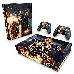 Xbox One X Skin - Ghost Rider - Motoqueiro Fantasma #A