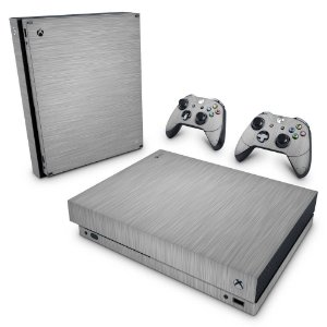 Xbox One X Skin - Aço Escovado Prateado