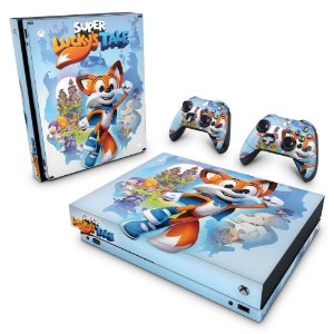 Xbox One X Skin - Super Lucky's Tale