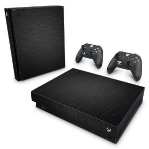 Xbox One X Skin - Aço Escovado Preto