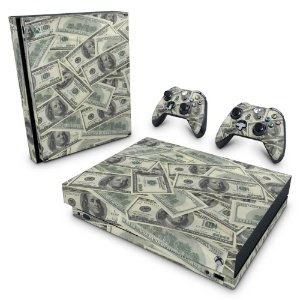 Xbox One X Skin - Dollar Money Dinheiro