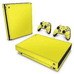 Xbox One X Skin - Amarelo