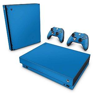 Xbox One X Skin - Azul Claro