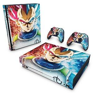 Xbox One X Skin - Dragon Ball Super Vegeta SSJ GOD