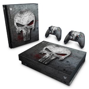 Xbox One X Skin - The Punisher Justiceiro #b