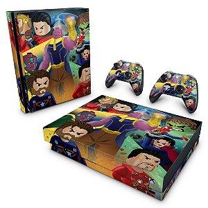 Xbox One X Skin - Lego Avengers Vingadores