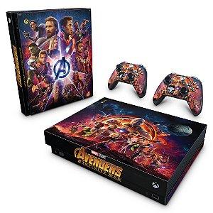 Xbox One X Skin - Os Vingadores: Guerra Infinita