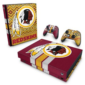 Xbox One X Skin - Washington Redskins NFL