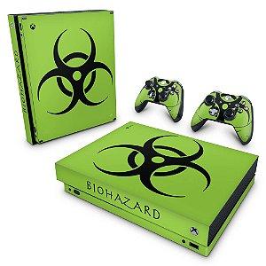 Xbox One X Skin - Biohazard Radioativo