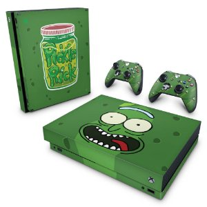 Xbox One X Skin - Pickle Rick and Morty