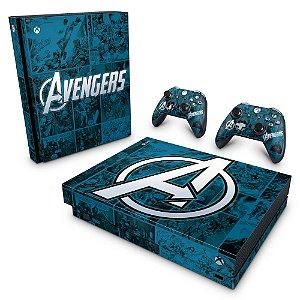 Xbox One X Skin - Avengers Vingadores Comics