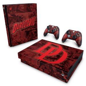 Xbox One X Skin - Daredevil Demolidor Comics