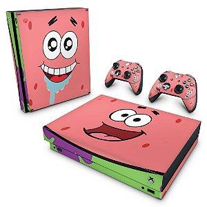 Xbox One X Skin - Patrick Bob Esponja