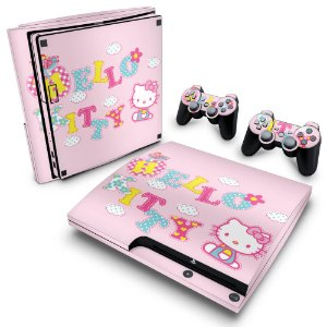 PS3 Slim Skin - Hello Kitty