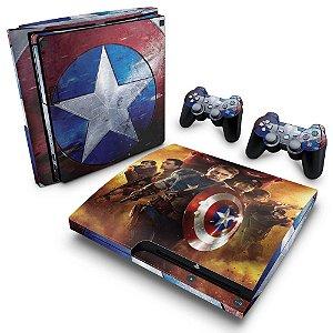 PS3 Slim Skin - Capitão América #B