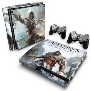 PS3 Slim Skin - Assassins Creed IV Black Flag