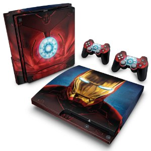 PS3 Slim Skin - Iron Man - Homem de Ferro #B