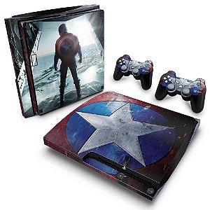 PS3 Slim Skin - Capitao America #A