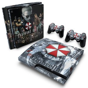 PS3 Slim Skin - Resident Evil - Umbrella