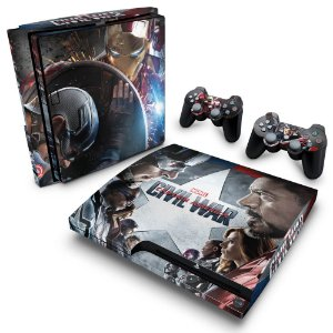 PS3 Slim Skin - Capitão America - Guerra Civil