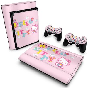PS3 Super Slim Skin - Hello Kitty