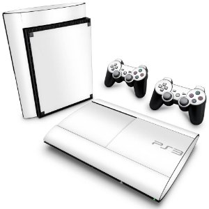 PS3 Super Slim Skin - Branco