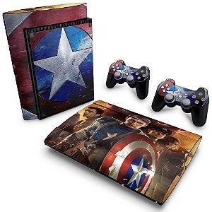 PS3 Super Slim Skin - Capitão América #B