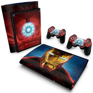 PS3 Super Slim Skin - Iron Man - Homem de Ferro #B