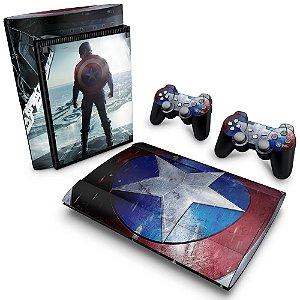 PS3 Super Slim Skin - Capitao America #A