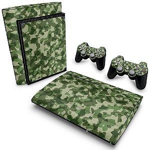 PS3 Super Slim Skin - Camuflado Verde
