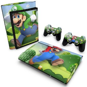 PS3 Super Slim Skin - Mario & Luigi