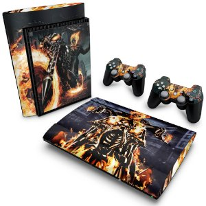 PS3 Super Slim Skin - Ghost Rider - Motoqueiro Fantasma #A