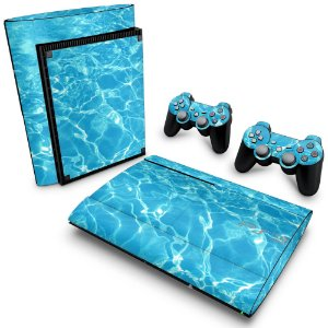 PS3 Super Slim Skin - Aquático Água