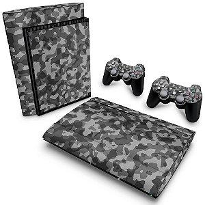 PS3 Super Slim Skin - Camuflado Cinza