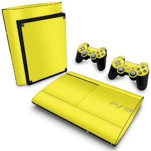 PS3 Super Slim Skin - Amarelo