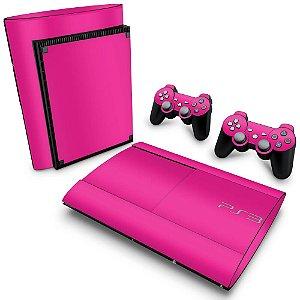 PS3 Super Slim Skin - Rosa