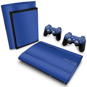 PS3 Super Slim Skin - Azul Escuro