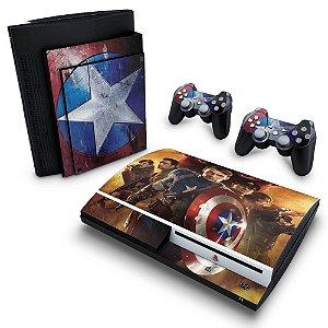 PS3 Fat Skin - Capitão América #B