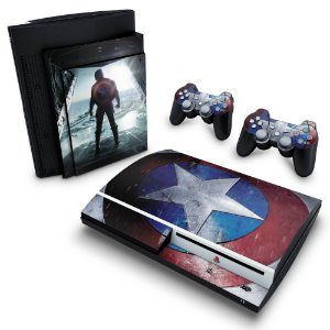 PS3 Fat Skin - Capitao America #A