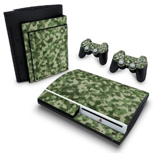 PS3 Fat Skin - Camuflado Verde