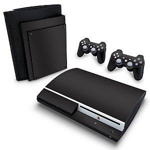 PS3 Fat Skin - Fibra de Carbono Preto