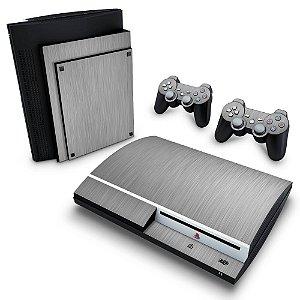 PS3 Fat Skin - Aço Escovado Prateado