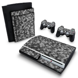PS3 Fat Skin - Camuflado Cinza