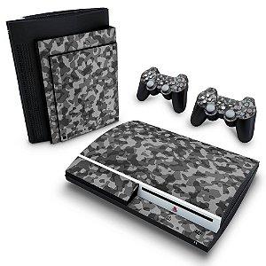 PS3 Fat Skin - Camuflado Cinza