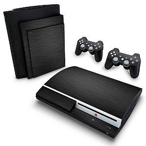 PS3 Fat Skin - Aço Escovado Preto