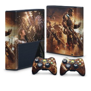 Xbox 360 Super Slim Skin - Gears of War 2