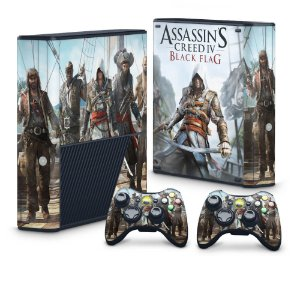 Xbox 360 Super Slim Skin - Assassins Creed IV Black Flag