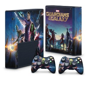 Xbox 360 Super Slim Skin - Guardiões da Galaxia